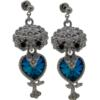 "1-5/8"" Owl Dangle Earring with crystals from Swarovski"
