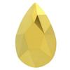 Swarovski 2303 Pear Shaped Flat Back Crystal Aurum 14x9mm