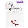 Swarovski 2304 Raindrop Flat Back Light Siam (10x2.8) 6pc Pack