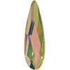 Swarovski 2304 Raindrop Flat Back Crystal Luminous Green 10x2.8mm