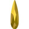 Swarovski 2304 Raindrop Flat Back Crystal Aurum 10x2.8mm