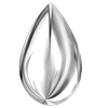 Swarovski 2308/4 Cabochon Drop Crystal Light Chrome 8x5mm