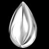 Swarovski 2308/4 Cabochon Drop Crystal Light Chrome 10x6mm