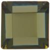 Swarovski 2400 Square Flat Back Khaki Chrome 4mm