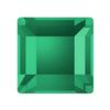 Swarovski 2400 Square Flat Back Emerald 4mm
