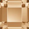 Swarovski 2400 Square Flat Back Crystal Golden Shadow 3mm