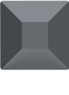 Swarovski 2400 Square Flat Back Jet Hematite 4mm