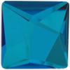 Swarovski 2420 Asymmetric Square Flat Back Crystal Bermuda Blue 25mm