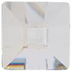 "Swarovski 2483 Classic Square Flat Back Crystal Comet Argent Light ""SI"" 25mm"