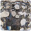 Swarovski 2493 Chessboard Flat Back Crystal Black Patina 10mm