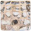 Swarovski 2493 Chessboard Flat Back Crystal Rose Patina 8mm