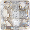 Swarovski 2493 Chessboard Flat Back Crystal Silver Patina 10mm