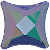 Swarovski 2494 Starlet Flat Back Crystal Paradise Shine 6mm