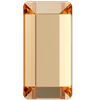 Swarovski 2510 Baguette Hotfix Crystal Golden Shadow 3.7x1.9mm