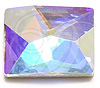 Swarovski 2520 Cosmic Flat Back Crystal AB 8x6mm