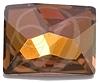 Swarovski 2520 Cosmic Flat Back Crystal Copper 14x10mm
