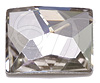 Swarovski 2520 Cosmic Flat Back Crystal Silver Shade 14x10mm