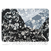 Swarovski 2520/B Cosmic Flat Back Marbled Black 14x10mm