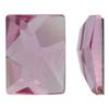 Swarovski 2520 Cosmic Flat Back Light Rose 10x8mm