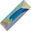 Swarovski 2555 Cosmic Baguette Hotfix Crystal AB 12x4mm