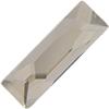 Swarovski 2555 Cosmic Baguette Hotfix Crystal Silver Shade 8x2.6mm