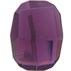 Swarovski 2585 Graphic Flat Back Amethyst 10mm