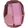 Swarovski 2585 Graphic Flat Back Crystal Antique Pink 14mm