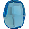 Swarovski 2585 Graphic Flat Back Aquamarine 10mm