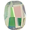 Swarovski 2585 Graphic Flat Back Crystal Luminous Green 8mm