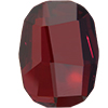 Swarovski 2585 Graphic Flat Back Crystal Red Magma 14mm
