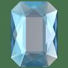 Swarovski 2602 Emerald Cut Flat Back Light Sapphire Shimmer 14x10mm