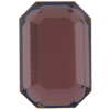 Swarovski 2610 Emerald Cut Octagon Flat Back Burgundy Chrome 6x4mm