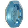 Swarovski 2611G Solaris Flat Back (Partly Frosted) Aquamarine 10mm