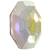 Swarovski 2611G Solaris Flat Back (Partly Frosted) Crystal AB 10mm