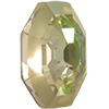 Swarovski 2611G Solaris Flat Back (Partly Frosted) Crystal Luminous Green 10mm