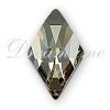 Swarovski 2709 Rhombus Flat Back Crystal Silver Shade 10x6mm