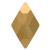 Swarovski 2709 Rhombus Hotfix Crystal Rose Gold 10x6mm