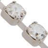 Swarovski 27001 Rhinestone Chain PP 24 CATCH FREE Crystal/Silver