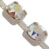 Swarovski 27104 Rhinestone Chain pp14 Crystal AB/Rhodium Silver Plated