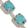 Swarovski 27104 Rhinestone Chain ss17 (pp32) Light Turquoise/Sterling Silver