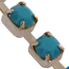 Swarovski 27104 Rhinestone Chain pp14 Turquoise/Sterling Silver