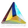 Swarovski 2720 Cosmic Delta Hotfix Crystal AB 7.5mm