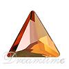 Swarovski 2720 Cosmic Delta Flat Back Crystal Copper 7.5mm