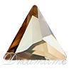 Swarovski 2720 Cosmic Delta Flat Back Crystal Golden Shadow 9mm