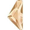 Swarovski 2738 Triangle Alpha Flat Back Crystal Golden Shadow 10x5mm