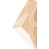 Swarovski 2738 Triangle Alpha Flat Back Crystal Ivory Cream 10x5mm