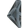 Swarovski 2738 Triangle Alpha Flat Back Crystal Silver Night 10x5mm
