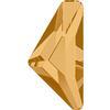 Swarovski 2738 Triangle Alpha Flat Back Light Colorado Topaz 10x5mm