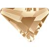 Swarovski 2739 Triangle Beta Flat Back Crystal Golden Shadow 7x6.5mm