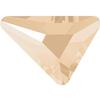 Swarovski 2739 Triangle Beta Flat Back Crystal Ivory Cream 7x6.5mm